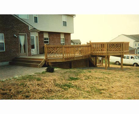 2 story deck stairs