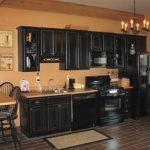 black-kitchen-front-view