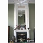 mantel-white-fireplace-green-wall