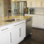 white-cabinets-modern-frig