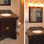 bathroom-single sink-dark-cabinet