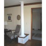 white-column-hallway