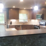 teal-wall-kitchen-counter